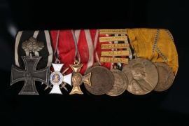 Medal Bar to a Hessian Officer and 1870/71 Veteran