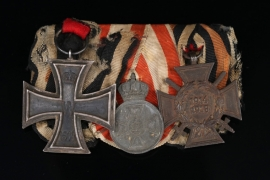 Medal Bar with a late war Red Eagle Order Medal in Zink