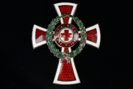 Austria - Red Cross Honor Badge Officers Cross with War Decoration - Silver