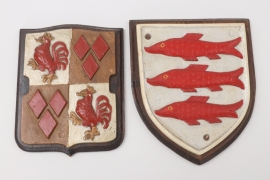 S.M.S.Graf Spee and S.M.S. Seydlitz coat of arms - wall plaques