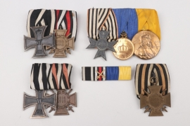 Four medal bars and one ribbon bar