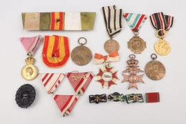 Lot of imperial medals