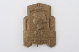 "K.u.K. 17.Inf.Reg. ""Kronprinz"" cap badge"