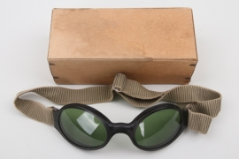 Luftwaffe splinter protection goggles with box
