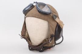 Luftwaffe summer flight helmet LKpS101 with goggles
