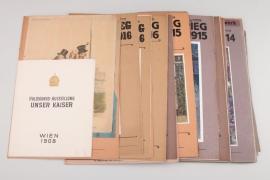 "K.u.K. ""Der Weltkrieg"" newspapers and pictures (newspaper supplements)"
