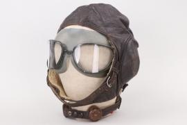Luftwaffe leather flight helmet LKpW101