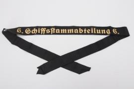 """Kriegsmarine cap tally """"6. Schiffsstammabteilung"""" - EM type"""