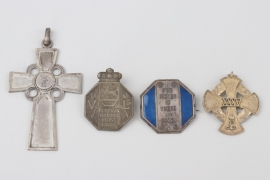Lot of badges and one crucifix