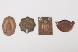Lot of impressive car and motorcycle sports plaques