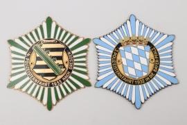 Bavaria/Saxony - two enamel police wall plaques