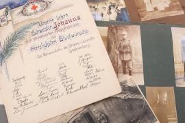WWI two photo albums & certificate to a Bavarian nurse - 597 photos