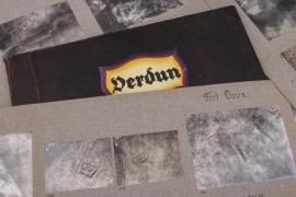 WWI 21 aerial photos of Verdun with folder (photo folder)