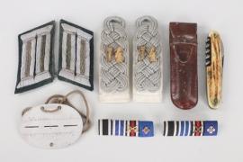 Major Ellersiek - Inf.Rgt.74 insignia grouping & ID tag