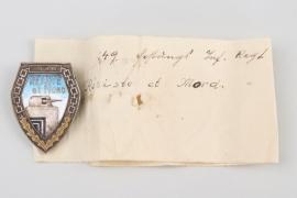 "149th Fortress Infantry Regiment ""Résiste et Mord"" badge"