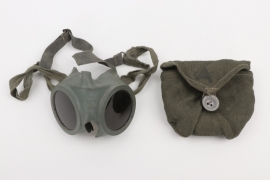 Kriegsmarine goggles for U-boat crews with bag - Auer