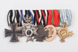 Medal bar of a brave Bavarian soldier