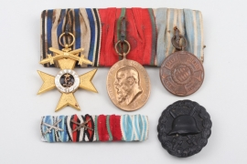 Medal bar and medals of a brave Bavarian Soldier