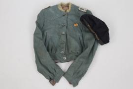 """Patriotic children's uniform and """"Kreuzer Emden"""" sailor's cap"""
