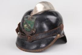 Imperial firebrigade leather helmet