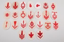 24 x Kriegsmarine personnel trade badges