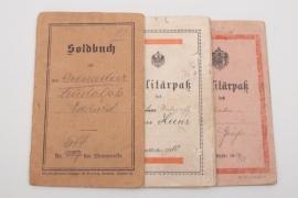 3 x military IDs pre 1918