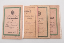 4 x military IDs pre 1918