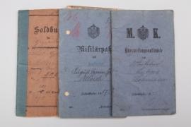 3 x military ID before 1918