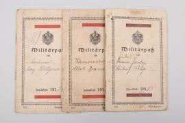 3 x military IDs pre 1918 (Garde)
