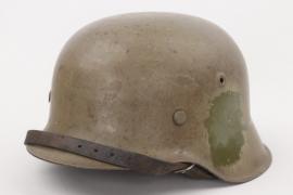 Wehrmacht camo helmet M42 -  overpainted decals