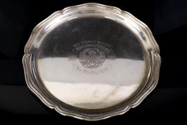 Konteradmiral Holzhauer - Kaiserliche Marine silver 1904 remembrance plate