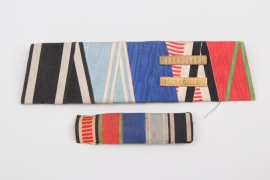 Ribbon bar of a brave Bavarian soldier in Africa