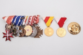 Austrian 10-place medal bar to a WWII veteran + 3 other medals
