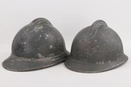 Italy - 2 x M15 adrian helmets for Italian troops