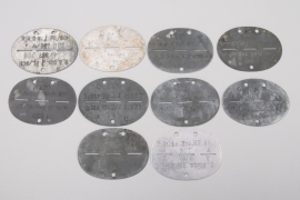 Wehrmacht ten military identification tags