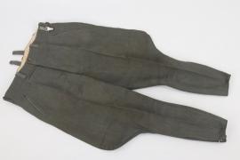 Heer / Waffen-SS officer's breeches - Italian gabardine