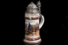 """Reservist's mug Kgl. bayr. 2.Inft.Regt. """"Kronprinz"""" Munich - military baker Josef Friedl"""