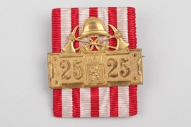 Hesse-Darmstadt - Decoration of honor for members of the voluntary fire brigade after 25 years of service