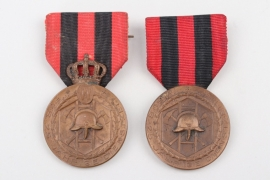 Wurttemberg - 2 x Fire Brigade Service Medals, 2. Mod & Free State Version