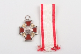 Bavaria - Fire Brigade Honor Cross without Crown in red enamel