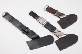 3 x leather hangers for the RAD Unterführer hewer - replicas