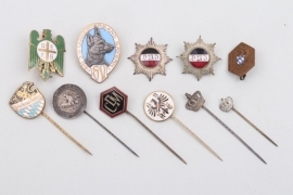 Lt. Tröger - lot of pins & membership badges