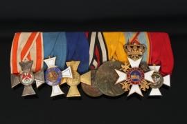 Medal bar from Lieutenant Colonel Freiherr von und zu Weichs an der Glonn