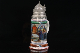 KGL.BAYR. INFANTRIE-REGIMENT KRONPRINZ MÜNCHEN RESERVIST'S MUG - GLASS DOME