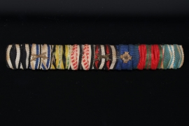 8-place ribbon bar to a WW1 veteran - south west africa campaign medal