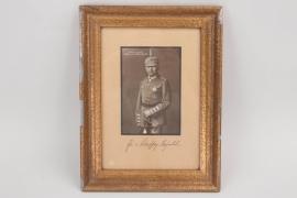 von Scheffer-Boyadel - signed postcard in frame