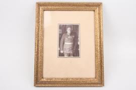 Generalleutnant a.D. Lehmann   - signed Foto in frame