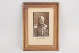 von Lochow - signed postcard in frame