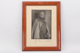 Generalmajor Arthur von Lüttwitz - signed photo in frame 1913/14