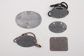 5 x German military identification tags pre 1918
